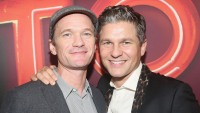 "Neil Patrick Harris and husband David Burtka pose at the opening night of ""Torch Song"" on Broadway at The 2nd Stage Helen Hayes Theater"