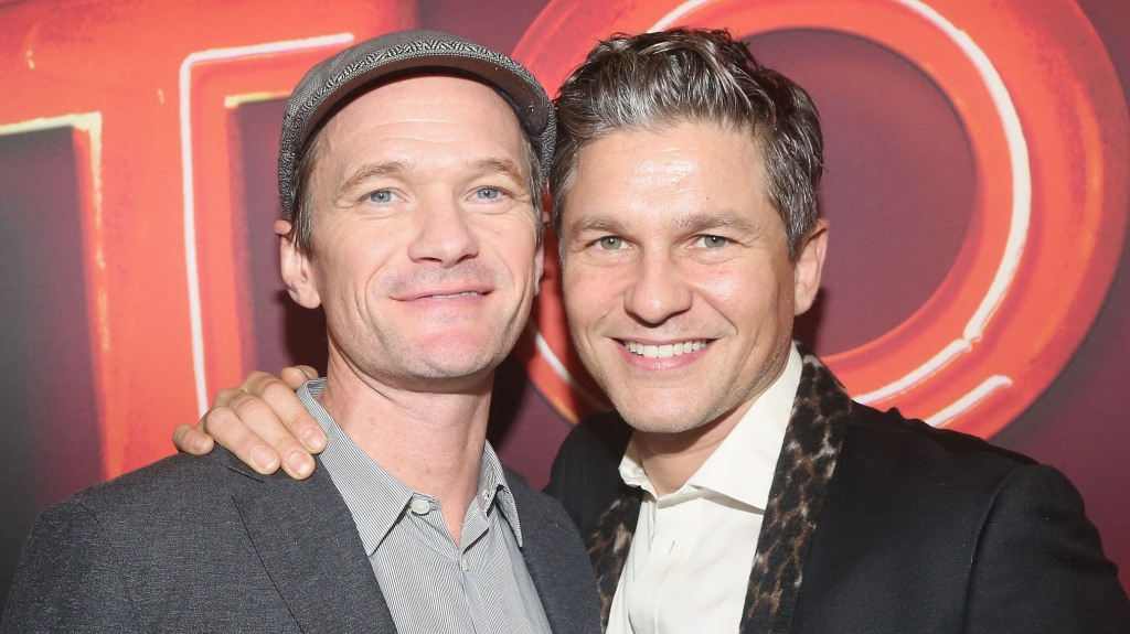 """Neil Patrick Harris and husband David Burtka pose at the opening night of """"Torch Song"""" on Broadway at The 2nd Stage Helen Hayes Theater"""