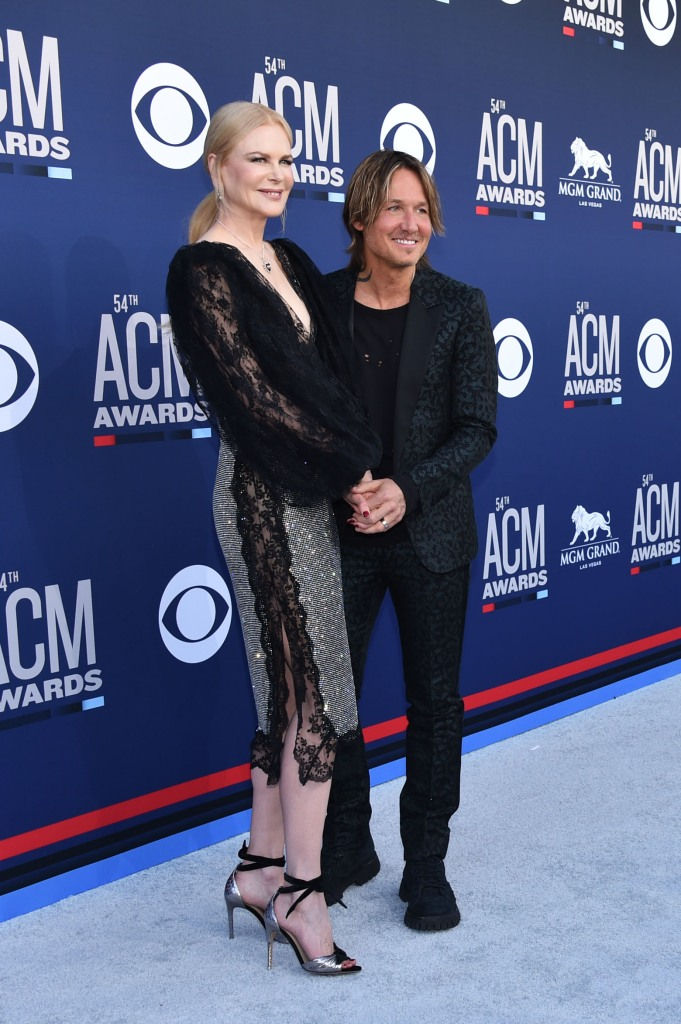 Nicole Kidman and Keith Urban attend the 54th Academy Of Country Music Awards at MGM Grand Hotel