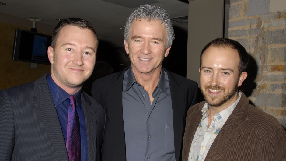 Actor Patrick Duffy (Center) and his sons Padriac Duffy(L), Conor Duffy (R) attend the opening night of Joan Rivers: A Work in Progress By A Life in Progress held at the Geffen
