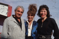 """Singer and dancer Paula Abdul poses for a portrait with her parents Lorraine Abdul and Harry Abdul during the filming of the video for her hit song """"Forever Your Girl"""""""