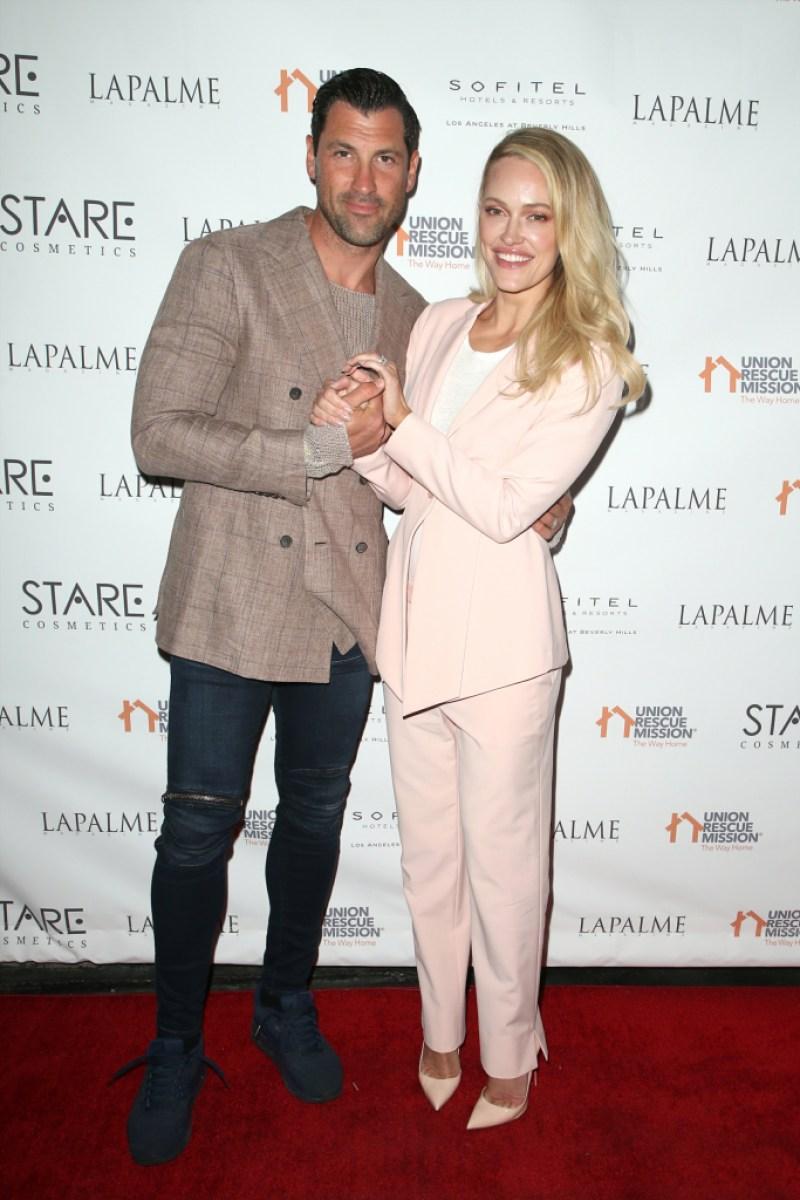 Peta Murgatroyd and Maksim Chmerkovskiy celebrate LaPalme Magazine Spring Issue Release