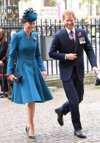 Prince Harry and Kate Middleton Attend ANZAC Day Service