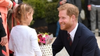 LONDON, UNITED KINGDOM - APRIL 3: Britain's Prince Harry (R), Duke of Sussex (R) takes part in a ballet class for 4 to 6 year olds, while on a visit to YMCA South Ealing, during a visit to YMCA South Ealing, to learn more about their work on mental health and see how they are providing support to young people in the area, on April 3, 2019 in London, England. YMCA South Ealing is part of YMCA St Paul's Group, which provides services across South West, South and East London, and is one of the largest YMCAs in Europe. The South Ealing association primarily provides supported housing, providing somewhere to live for 150 young people who are having to deal with issues such as homelessness, mental illness, are recovering from substance misuse, or are fleeing domestic violence. (Photo by Adrian Dennis-WPA Pool/Getty Images)