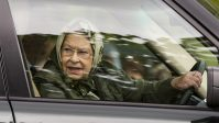 Queen Elizabeth driving