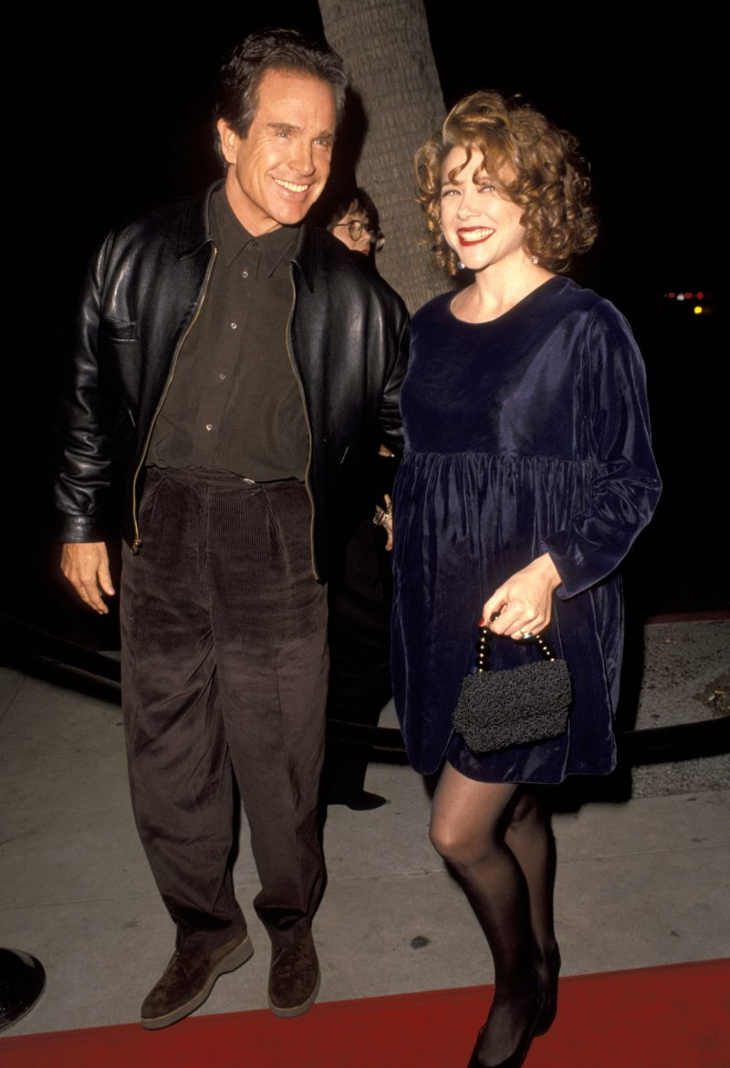 Warren Beatty and Annette Bening in 1991