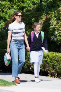 Jennifer Garner and her daughter Violet are seen in Los Angeles, California.