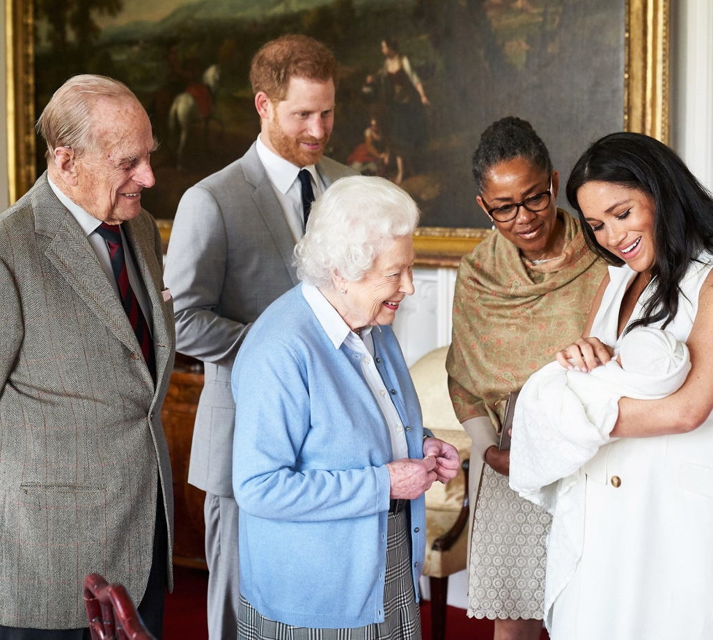 Royal Baby Prince Harry Meghan Markle Archie Harrison Mountbatten Windsor Doria Ragland Queen Elizabeth Prince Charles