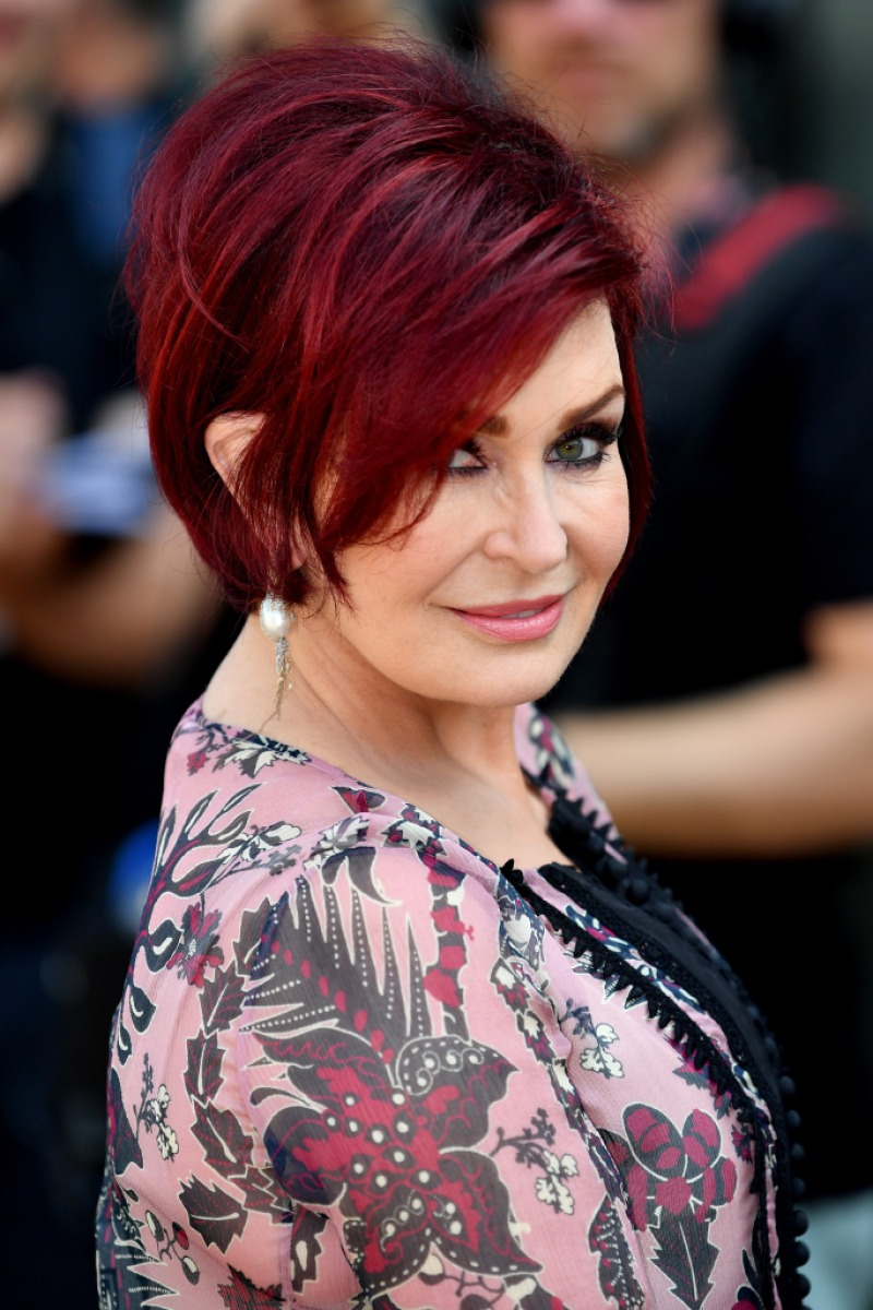 sharon osbourne hair wine factor face mulled hairstyles talk today surgery short plastic getty jenner judges ozzy kendall kylie shirt