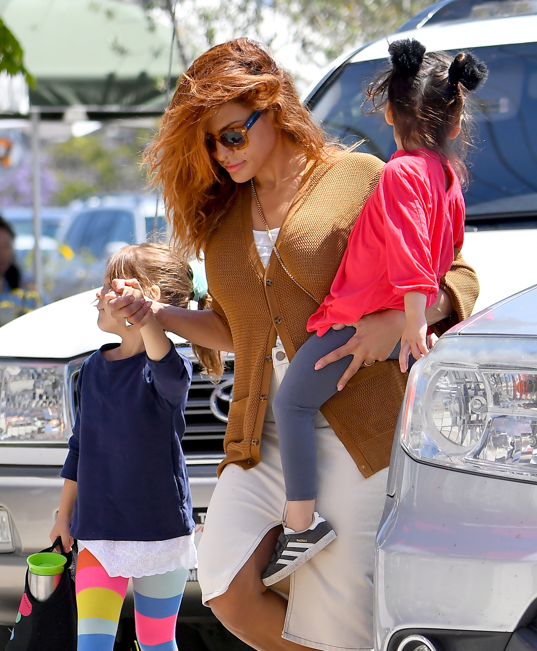 Eva Mendes Jokes the 'Hardest Part' of Parenting Is Carrying Around 'Fresh' Snacks for Your Kids
