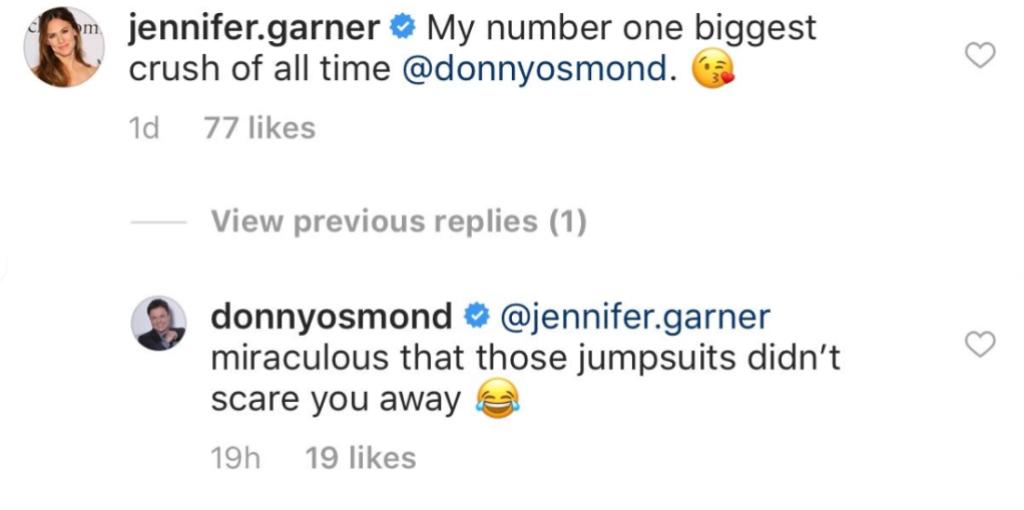 jennifer-garner-donny-osmond-comment