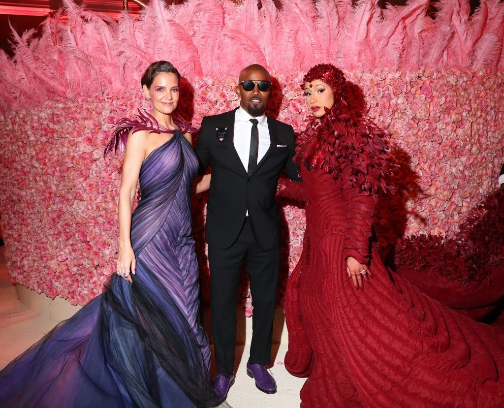 Katie Holmes, Jamie Foxx and Cardi B attend the 2019 Met Gala