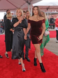 Kelly Ripa and Lola Consuelos at the Hollywood attend the hall fo fame induction