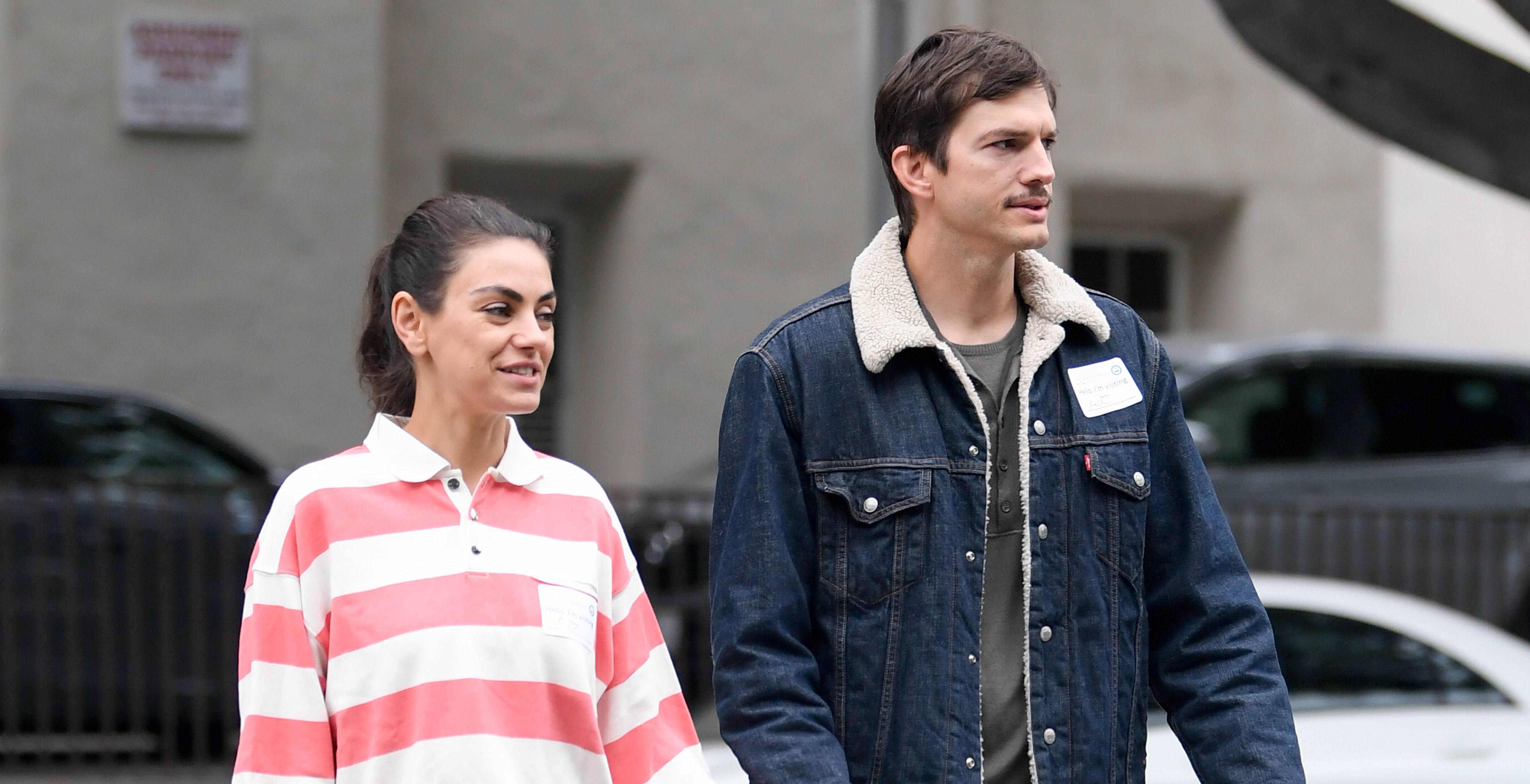 Mila Kunis and Ashton Kutcher Hold Hands While Touring Preschools in L.A. — See the Pics!
