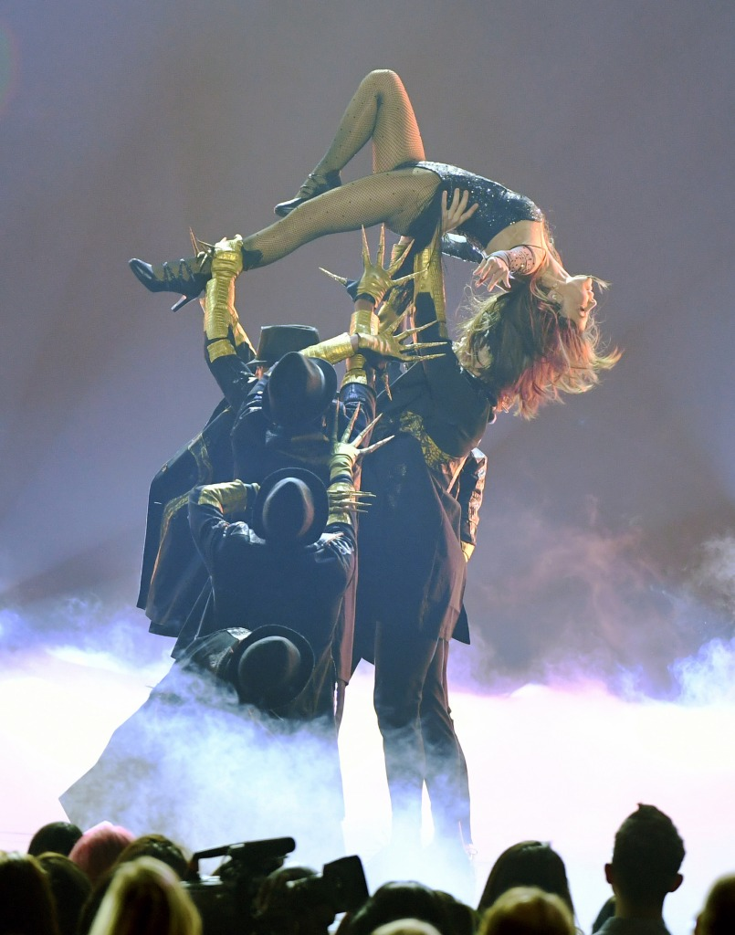Paula Abdul performs with dancers during the 2019 Billboard Music Awards