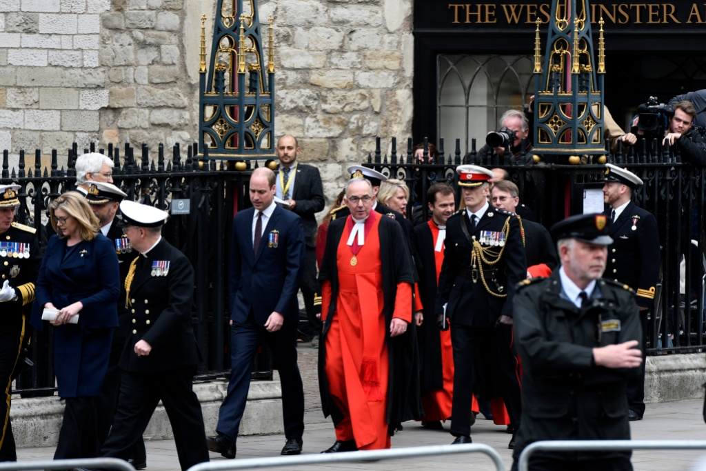 Prince William attends royal navy service as Westminster Abbey