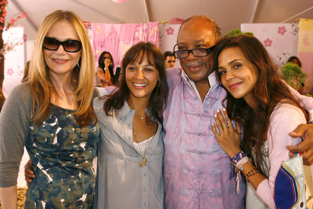 quincy-jones-peggy-lipton-rashida-jones-kadida-jones