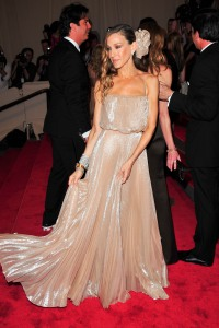 Sarah Jessica Parker attends the Met Gala in 2010
