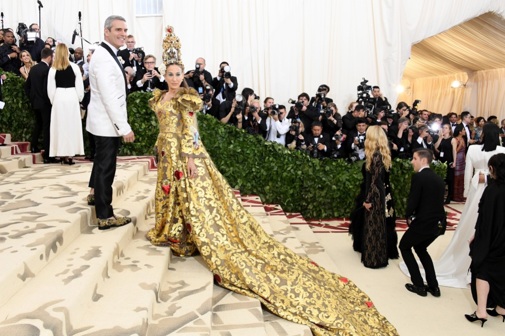 Sarah Jessica Parker attends the Met Gala in 2018
