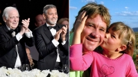 George Clooney Dad Nick Clooney and Bindi Irwin Dad Steve Irwin