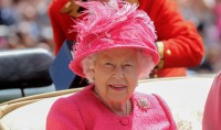 Pretty in Pink! Queen Elizabeth Stuns in Coat Dress With Matching Hat at Day 4 of Royal Ascot — See the Pics!