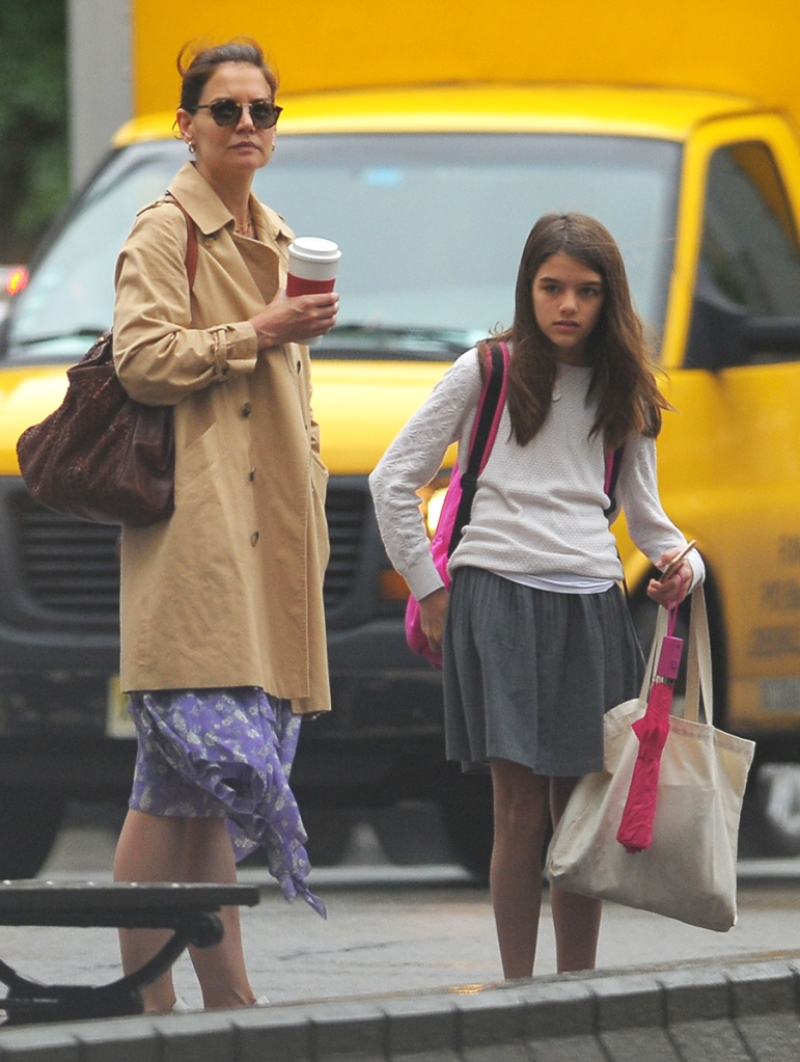 Katie Holmes and Daughter Suri Cruise Spotted Out and About in NYC — See the Mother-Daughter Duo!