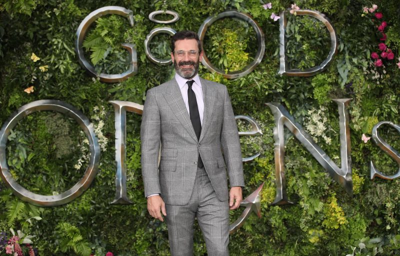 Jon Hamm With Facial Hair at the Premiere of Amazon's 'Good Omens'