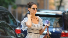 katie-holmes-out-and-about-in-nyc-floral-dress