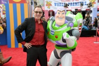 Tim Allen and Buzz Lightyear at the premiere of Toy Story 4.
