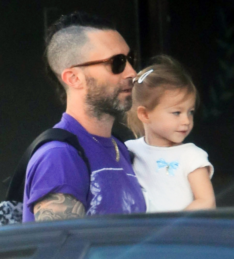 Adam Levine Behati Prinsloo kids breakfast Beverly Hills