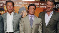 Sylvester Stallone,Arnold Schwarzenegger and Dolph Lundgren