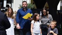 Ben Affleck Jennifer Garner Kids Church