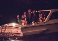 George Clooney and wife Amal look more loved-up than ever as they cosy up to watch 4th of July fireworks display aboard a boat on Lake Como George-Amal-3