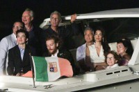 George Clooney and wife Amal look more loved-up than ever as they cosy up to watch 4th of July fireworks display aboard a boat on Lake Como George-Clooney-and-Amal-2