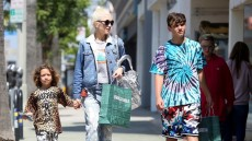 Gwen Stefani goes shopping with her sons