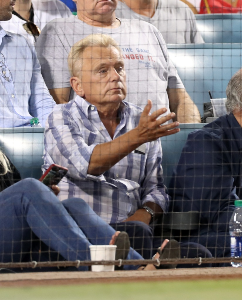 Pat Sajak-attends-the-Los-Angeles-Dodgers-Anaheim-Angels-Game