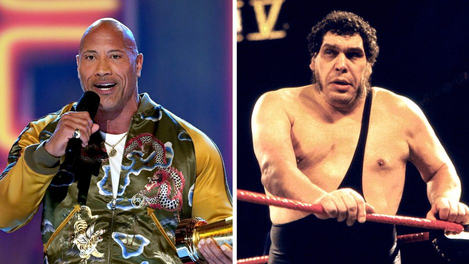 Dwayne the Rock Johnson Andre the Giant