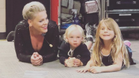 pink and her kids