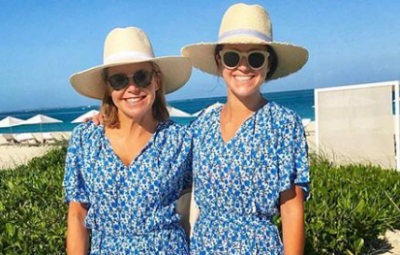Katie Couric and her daughter Ellie