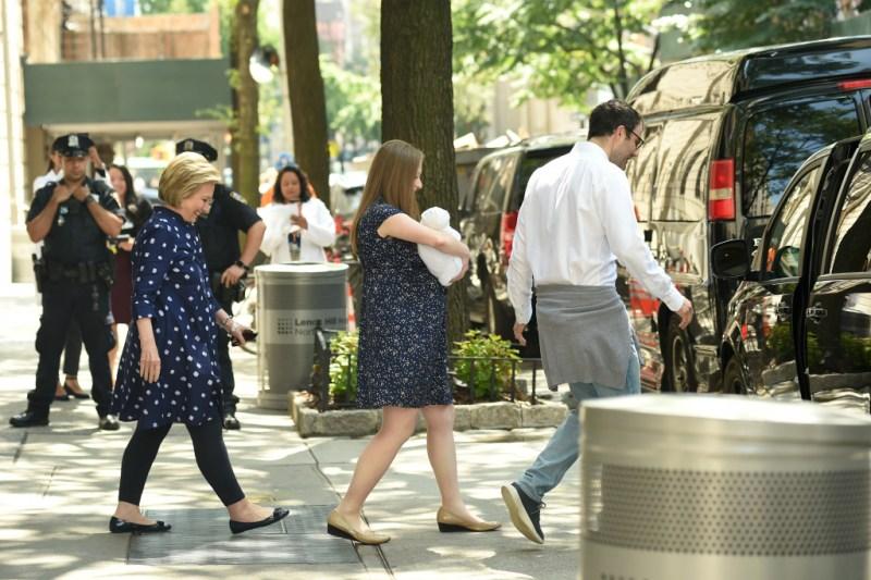 Hillary Clinton and family
