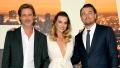 Brad Pitt, Margot Robbie, and Leonardo DiCaprio at the 'Once Upon a Time in Hollywood' L.A. Premiere