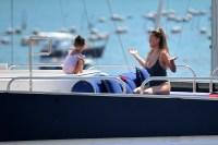 EXCLUSIVE: Chrissy Teigen seen on a yacht in Porto Venere, Italy