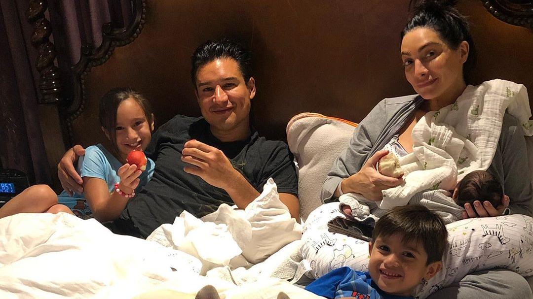 Mario Lopez Shares New Pic Of Baby No 3 Santino At 1 Week Old
