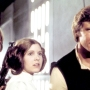 Mark Hamill, Carrie Fisher and Harrison Ford in 'Star Wars'