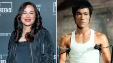 Shannon Lee and Bruce Lee