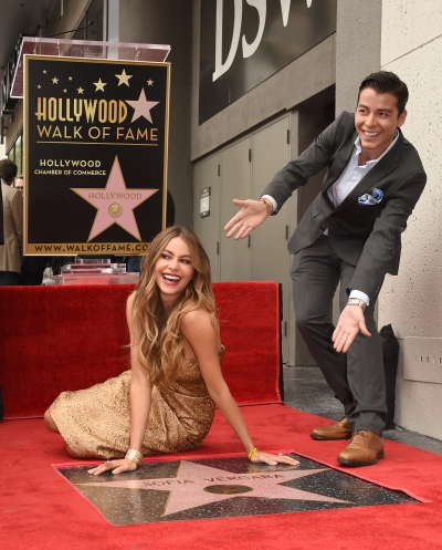 Sofia Vergara onorata sulla Hollywood Walk Of Fame