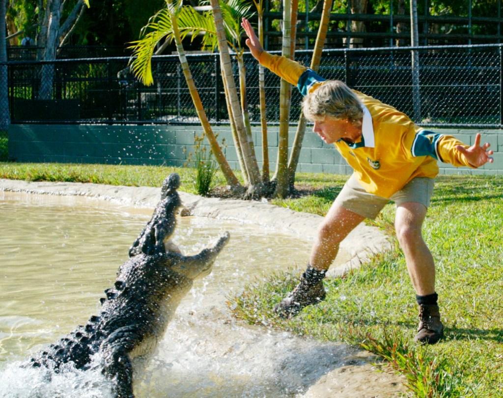 Steve Irwin And Son Robert Feed The Same Crocodile 15 Years Apart