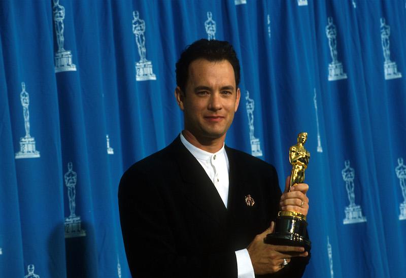 Tom Hanks with an Oscar