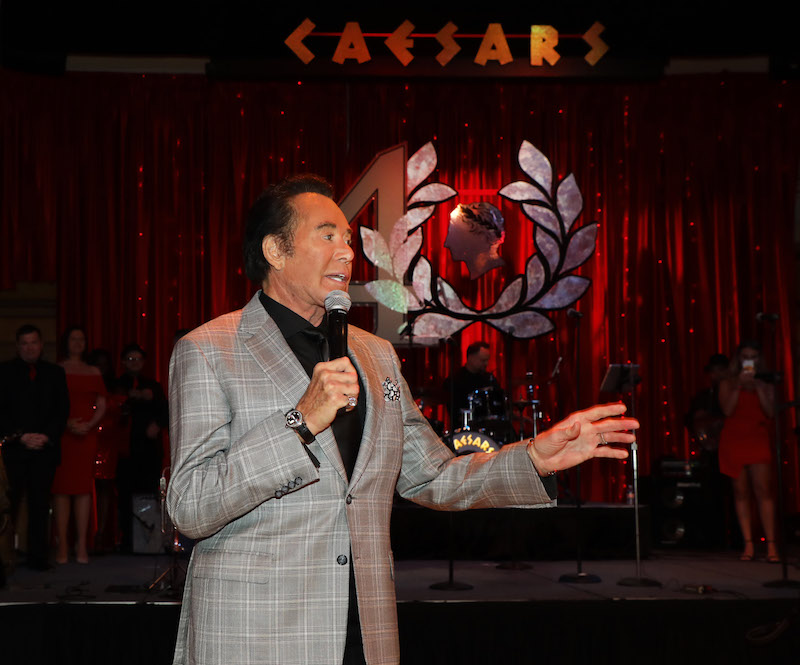 Wayne Newton at Caesars Atlantic City's 40th anniversary celebration