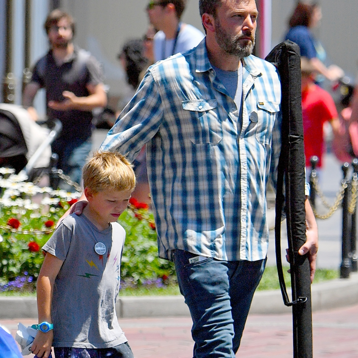 Ben Affleck Celebrates His Upcoming 47th Birthday With Son Samuel at the Happiest Place on Earth, Disneyland — Pics!